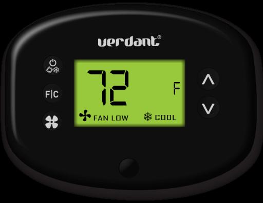 Illustration of a Verdant VX thermostat