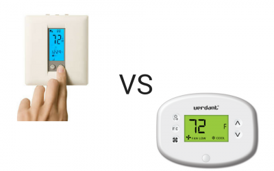 Choosing between a programmable thermostat and an occupancy based thermostat