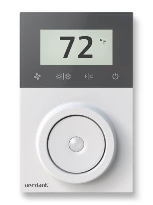 Illustration of a Verdant VX thermostat